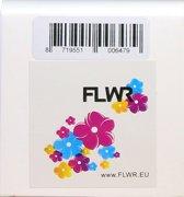 FLWR - Printetiket / 99013 / Transparant - geschikt voor Dymo