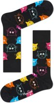 Happy Socks Cat Sokken - Zwart/Multi - Maat 41-46