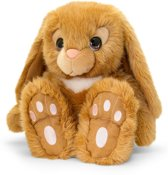 Keel Toys pluche konijn bruin konijnen knuffel 25 cm - Konijnen knuffeldieren - Speelgoed voor kind