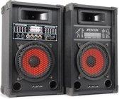 Skytec SPA-800 - PA Karaoke Actieve Speakers 8 inch - 2 stuks - Zwart