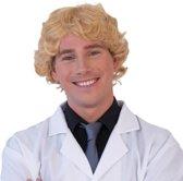 Pruik krul blond