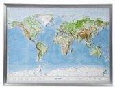 Relief Welt 1:107 MIO mit Holzrahmen