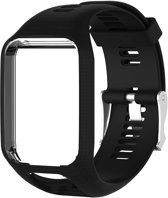 Siliconen Sportband Voor Tomtom Adventurer / Golfer 2 / Spark / Runner 2/3 - Armband Polsband Strap - Zwart