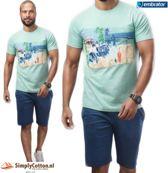 Embrator Huispak / Zomerset / Shortama 2-delig shirt&short 671 mint maat L