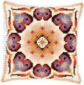 Vervaco borduurpakket Geometrie met blauw pn-0145227 kruissteekkussen borduren