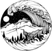 Water overdraagbare Tijdelijke Tattoo: Tsunami 60x60mm