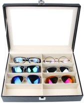 Zonnebril display doos met deksel / brillendoos voor 8 brillen opbergen