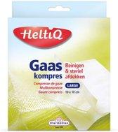 HeltiQ Gaaskompressen - 10 x 10 cm - 10 stuks - Gaasjes