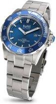 Tutti Milano  TM900SBL- Horloge - 42 mm - Zilverkleurig - Collectie Corallo Steel