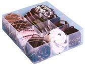 5x Really Useful Box, office divider met 12 vakjes, transparant