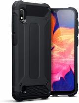 Samsung Galaxy A10 Hoesje - Anti Shock Armor Hybrid Case - Zwart
