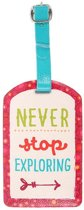Never Stop Exploring Luggage Tag Bagage Label Reizen Koffer