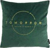 Tomorrow Velvet Groen Kussenhoes | Fluweel - Polyester | 45 x 45 cm