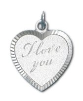 "TRESOR hart ""I love you"" hanger - Zilver"