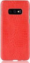 Mobigear Shockproof Krokodil Hoesje Rood Samsung Galaxy S10e