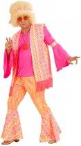 """""""Roze hippie kostuum voor mannen  - Verkleedkleding - Medium"""""""