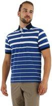 Baileys heren polo shirt streep korte mouw jeans_L, maat L