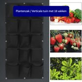 Plantenzak met 18 vakken - Verticale tuin - Plantentas - Plantenhanger geschikt voor kruiden, bloemen en planten - Hangende plantenbak - Anno 1588 - Dik vilt - Zwart