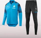 PUMA Olympique de Marseille Trainingspak Heren - Blauw - Maat S