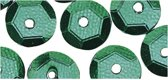 Pailletten groen 6 mm 500 stuks