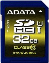ADATA SDHC 32GB 32GB SDHC UHS Class 10 flashgeheugen
