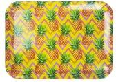 Dienblad met ananas motief RUBY - Multicolor - Kunststof - 43.5 x 31.5 cm