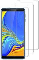 3 Stuks Screenprotector Tempered Glass Glazen Gehard Screen Protector 2.5D 9H (0.3mm) - Samsung Galaxy A8 2018