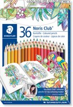 STAEDTLER Noris Club kleurpotlood - set 36 kleuren in Johanna Basford editie