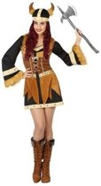 Viking verkleed jurk/set dames - carnavalskleding - voordelig geprijsd XL (42-44)