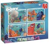 Finding Dory 4in1 Puzzel 4 legpuzzels met ieder een verschillend aantal stukjes
