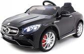 Mercedes S63 AMG Elektrische kinderauto (12V)  / accuvoertuig met Mp3 + Afstandsbediening | Mp3 |Verlichting| Rubberen banden | Zwart