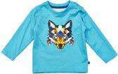 Minymo - baby jongens shirt - model Gavin - blauw - Maat 86