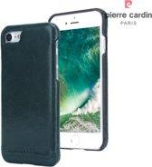 Pierre Cardin hard case echt leder groen iPhone 7/8