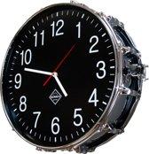 Berben Design Drum Klok Slim - Zwart - 39 x 39 x 13.5cm