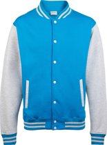 AWDis Varsity jacket, Sapphire Blue/Heather Grey, Maat M