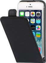 Qtrek iPhone 5 / 5S / SE Flip Case Black