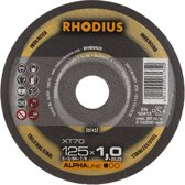 Rhodius XT70 doorslijpschijf 125 x 1,5 mm