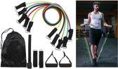 Fitness Elastiek Set - Resistance Power Band Tube - Weerstandstube - Weerstandsbanden - Weerstandskabel - Gymnastiek Banden - 11 Stuks