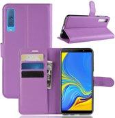 Book Case Samsung Galaxy A7 (2018) Hoesje - Paars