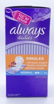 Always Dailies Inlegkruisjes - Singles Normal 20 stuks