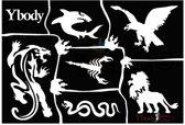 Stencil Wild Animals Y body