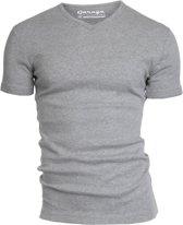 Garage 302 - T-shirt V-neck semi bodyfit black S 100% cotton 1x1 rib