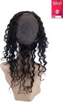 Shri 100% Indian Human Hair 360⁰ met cap Frontal Deep Wave, 14 Inch, 130% Density