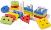 New Classic Toys - Geometrische Vormenpuzzel - Multi Kleur
