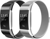 Adge® Milanese bandjes - Fitbit Charge 2 - 2-pack - Small