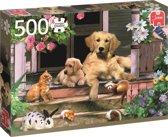 Ontmoeting Op De Veranda - Dieren Puzzel - 500 stukjes