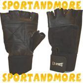 Hech - CP - Trainingshandschoenen met elastische polsband - Wristwrap Gloves - Workout Gloves - Unisex - Zwart - S
