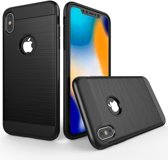 iPhone XS Max (6,5 inch) - hoes, cover, case - TPU - Extra bescherming - Zwart