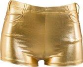 Hotpants goud voor dames L/xl