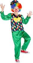 dressforfun 300797 Jongenskostuum Clown Freddy voor kinderen 116 (5-6 jaar) verkleedkleding kostuum halloween verkleden feestkleding carnavalskleding carnaval feestkledij partykleding